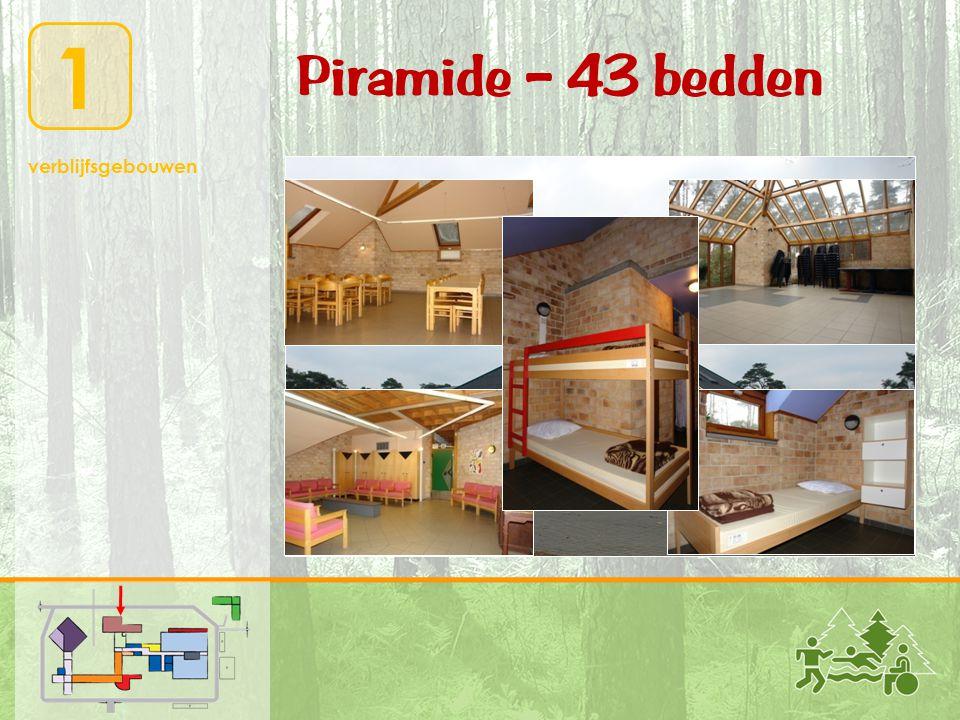Piramide – 43 bedden