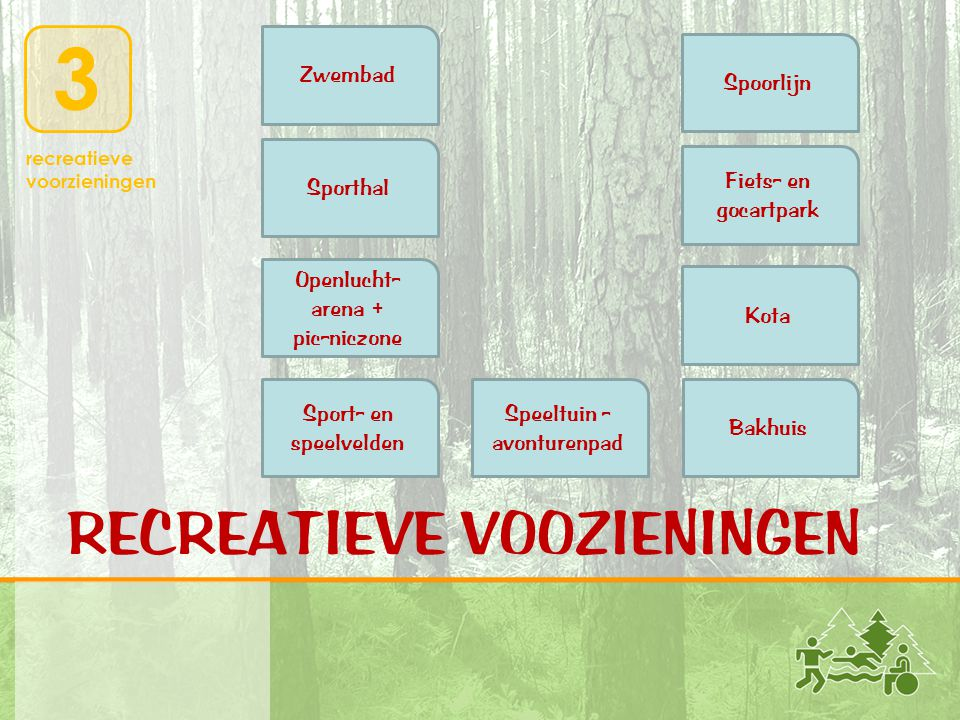 RECREATIEVE VOOZIENINGEN