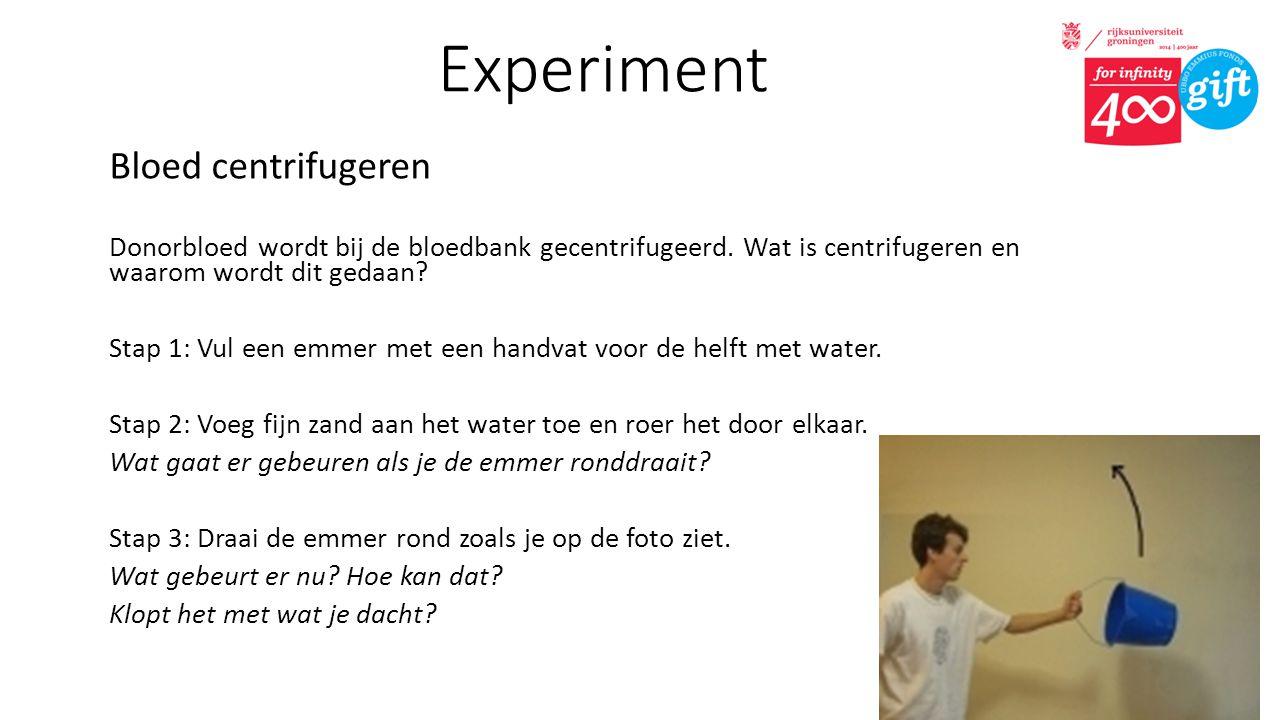 Experiment Bloed centrifugeren