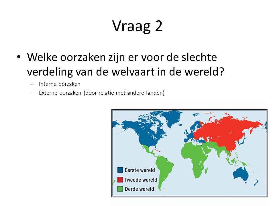 Vraag 2 Welke oorzaken zijn er voor de slechte verdeling van de welvaart in de wereld Interne oorzaken.