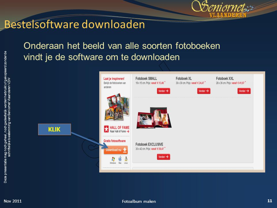 Bestelsoftware downloaden