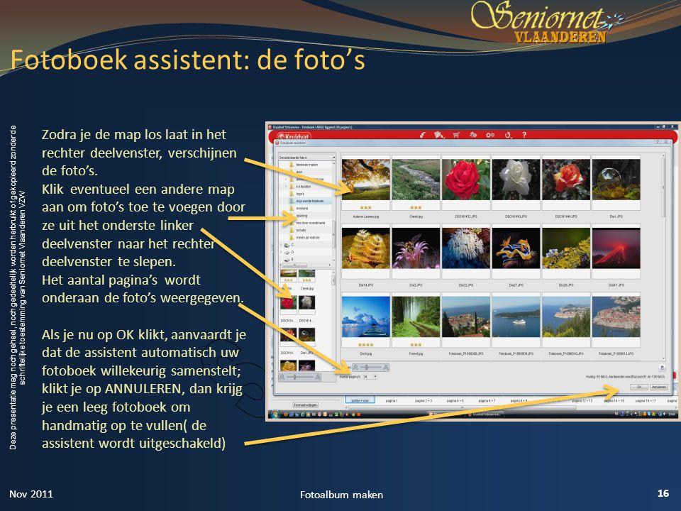 Fotoboek assistent: de foto's