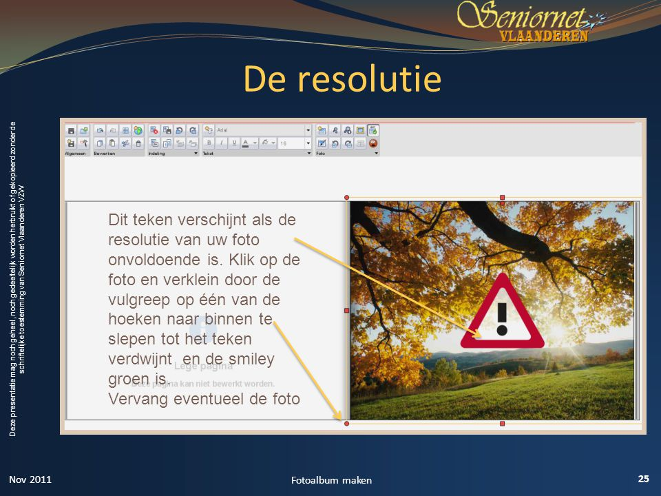 De resolutie