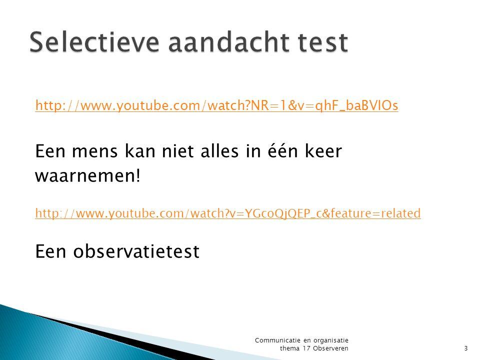 Selectieve aandacht test