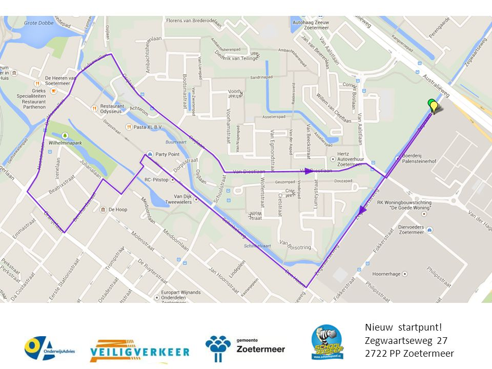 Nieuw startpunt! Zegwaartseweg 27 2722 PP Zoetermeer Google maps link: