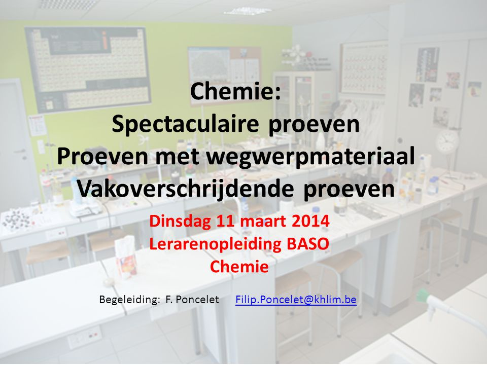 Lerarenopleiding BASO Chemie