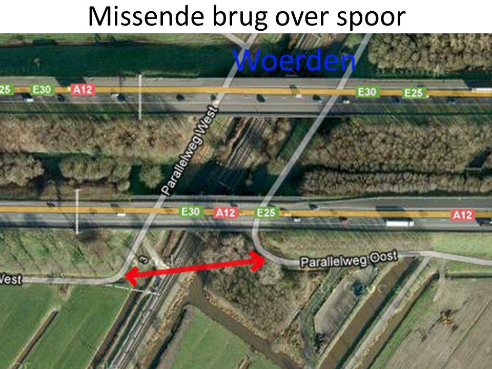 Missende brug over spoor