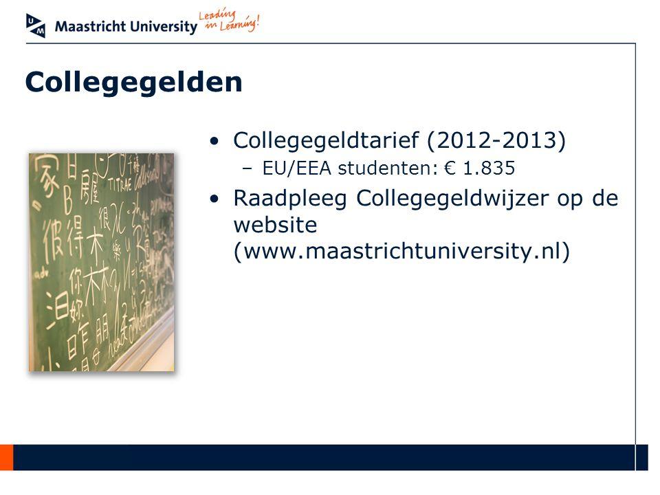 Collegegelden Collegegeldtarief (2012-2013)