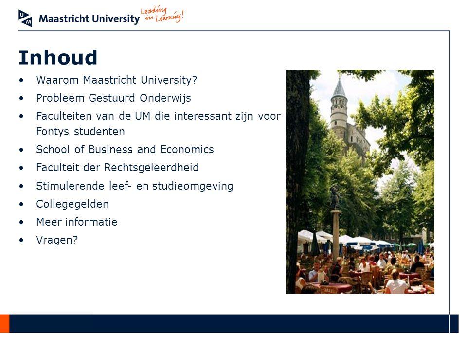 Inhoud Waarom Maastricht University Probleem Gestuurd Onderwijs