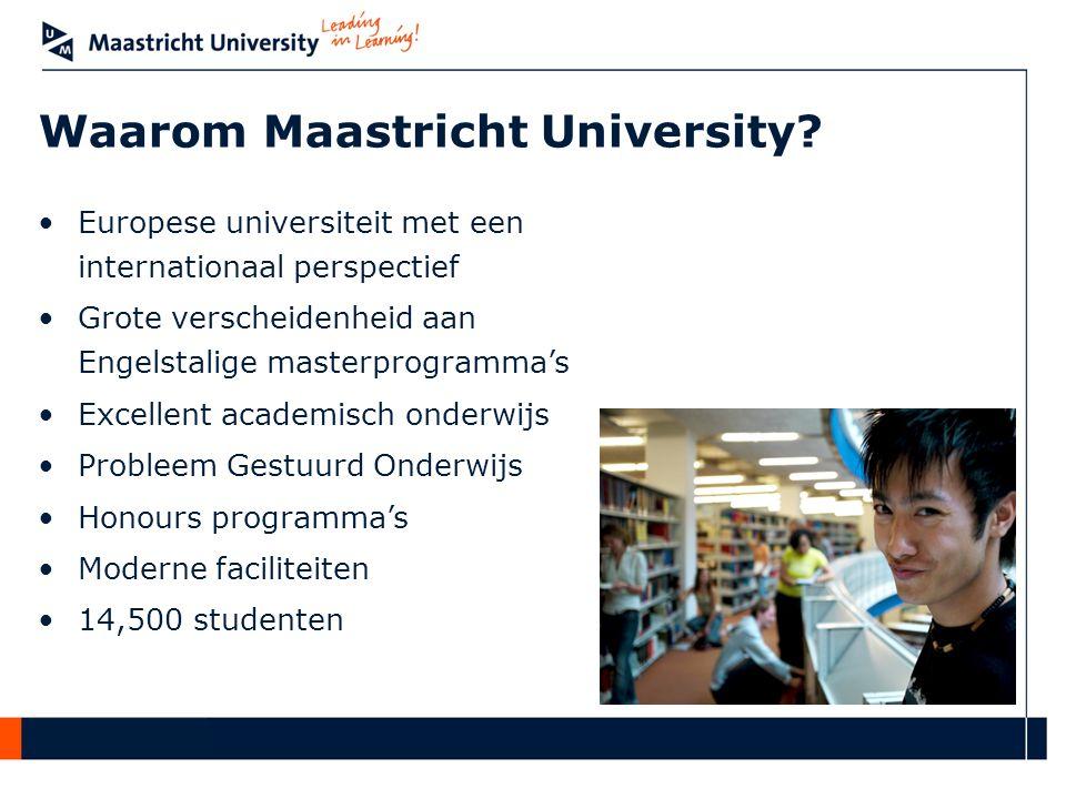Waarom Maastricht University