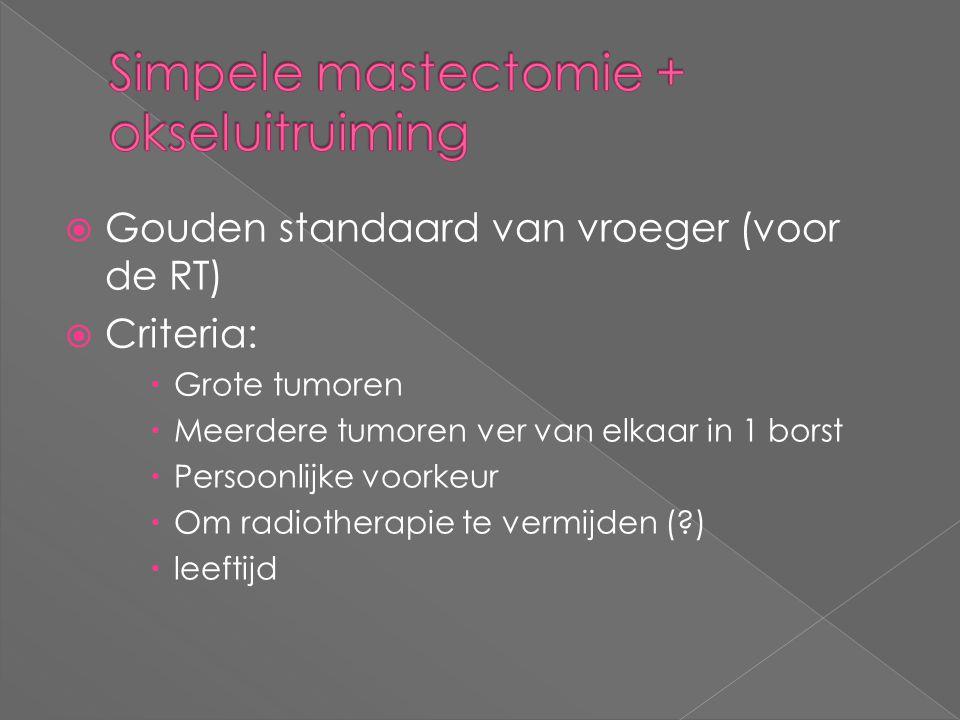Simpele mastectomie + okseluitruiming