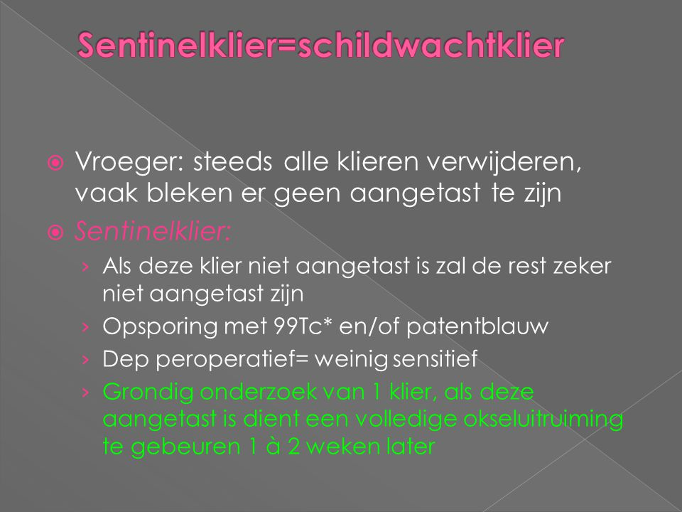 Sentinelklier=schildwachtklier