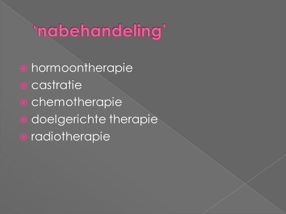 'nabehandeling' hormoontherapie castratie chemotherapie