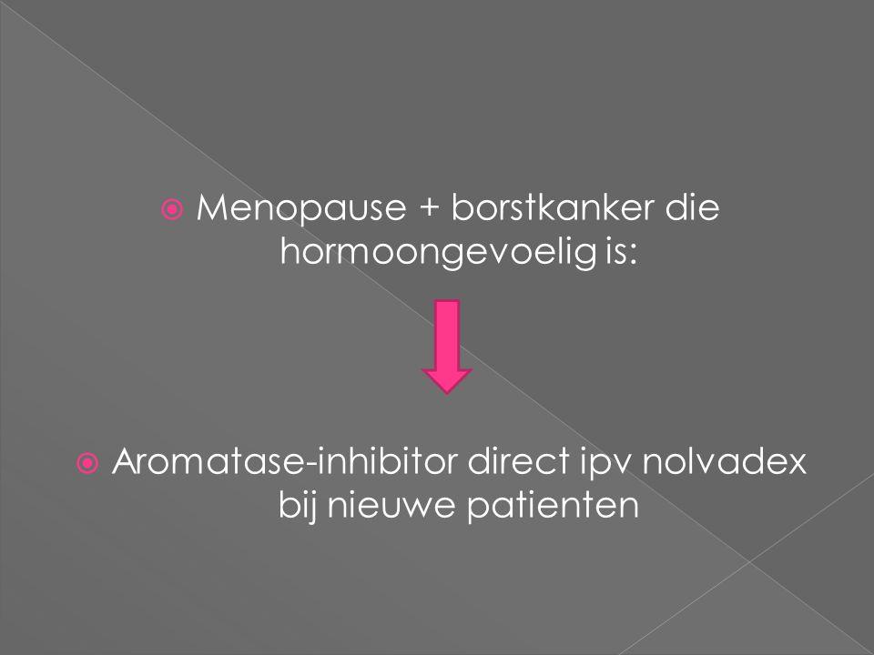 Menopause + borstkanker die hormoongevoelig is: