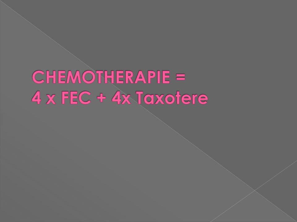 CHEMOTHERAPIE = 4 x FEC + 4x Taxotere