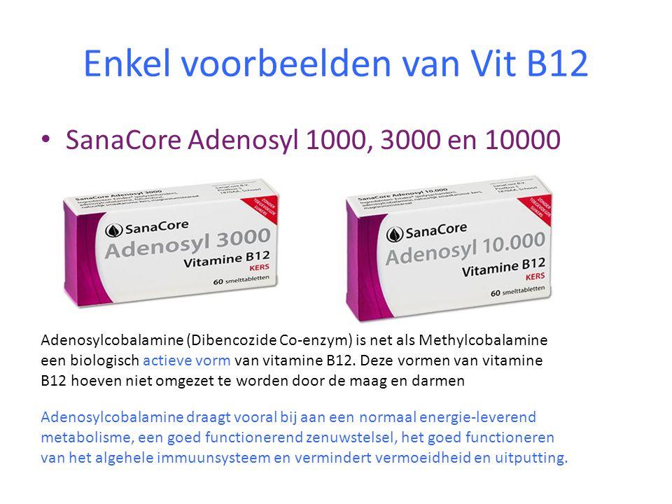 Enkel voorbeelden van Vit B12