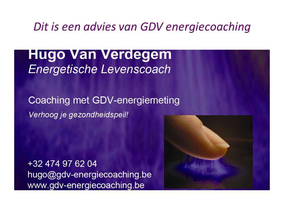 Dit is een advies van GDV energiecoaching