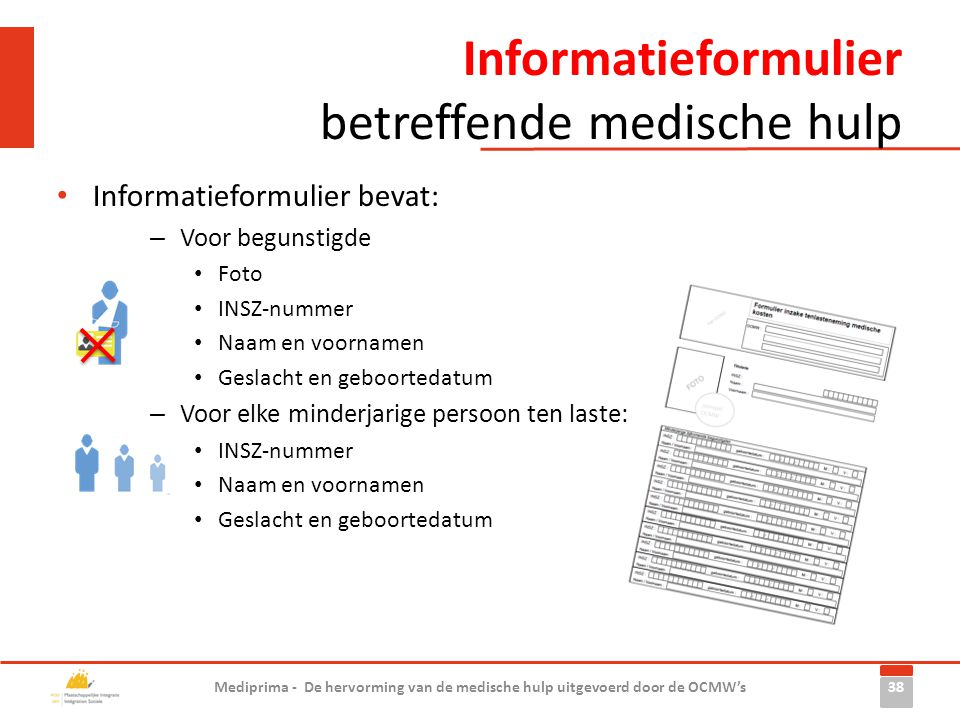 Informatieformulier betreffende medische hulp