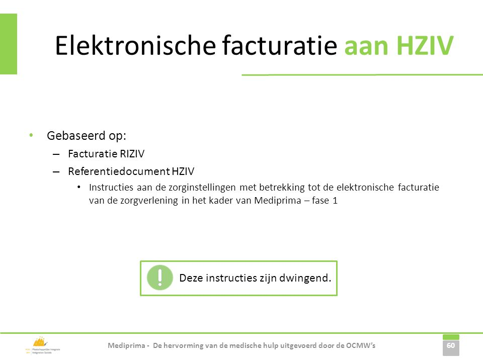 Elektronische facturatie aan HZIV