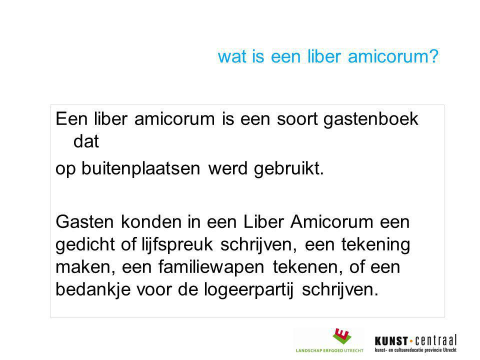 wat is een liber amicorum