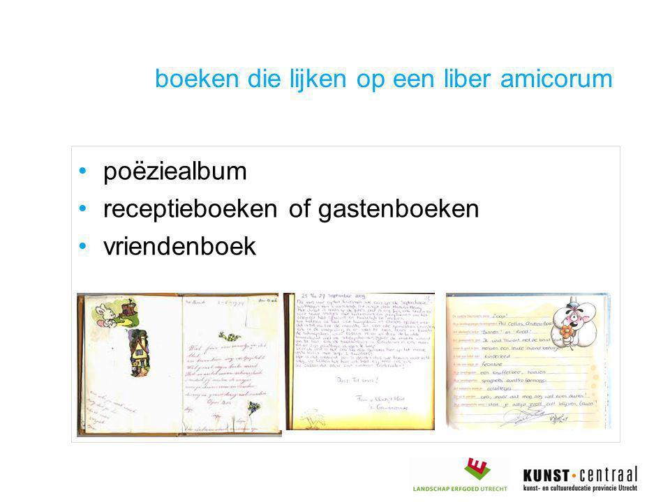 boeken die lijken op een liber amicorum