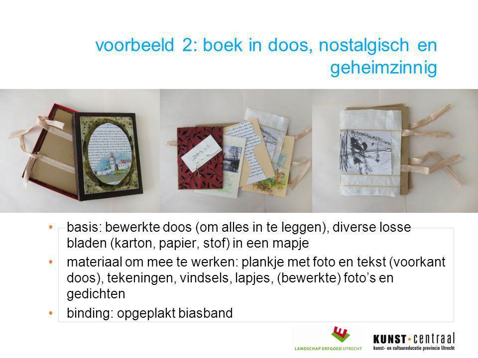 voorbeeld 2: boek in doos, nostalgisch en geheimzinnig