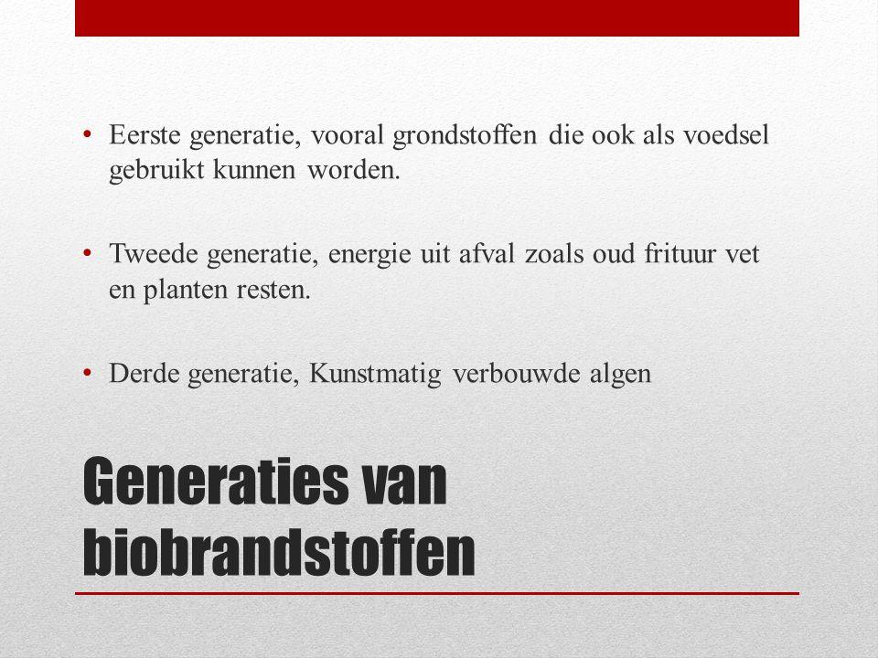 Generaties van biobrandstoffen