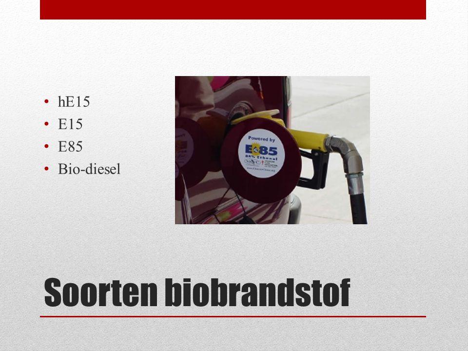 hE15 E15 E85 Bio-diesel Soorten biobrandstof