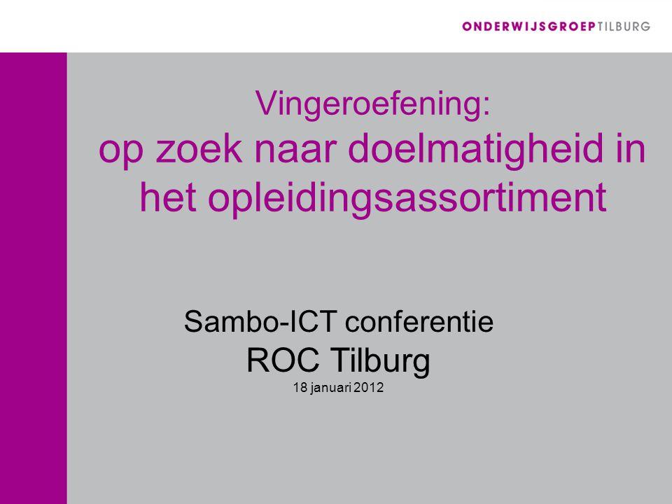 Sambo-ICT conferentie ROC Tilburg 18 januari 2012