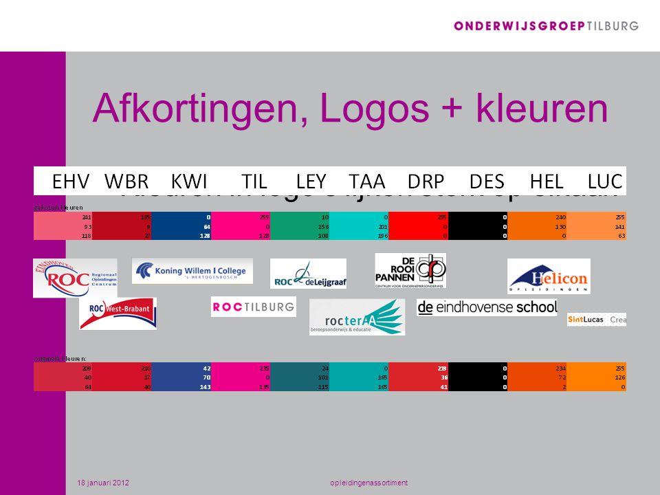 Afkortingen, Logos + kleuren