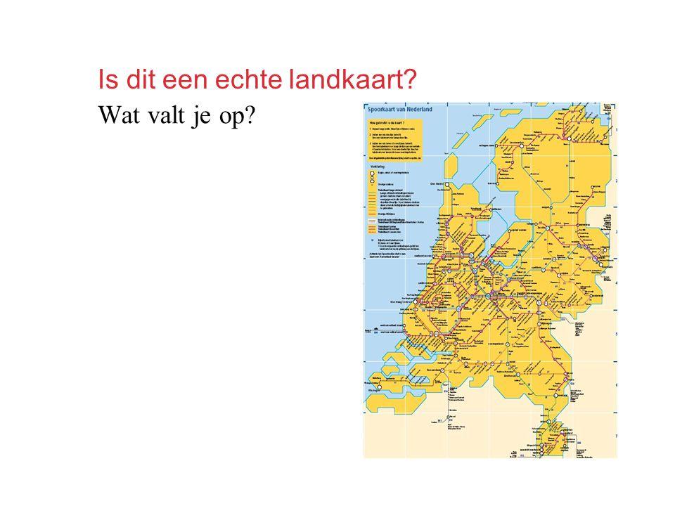Is dit een echte landkaart