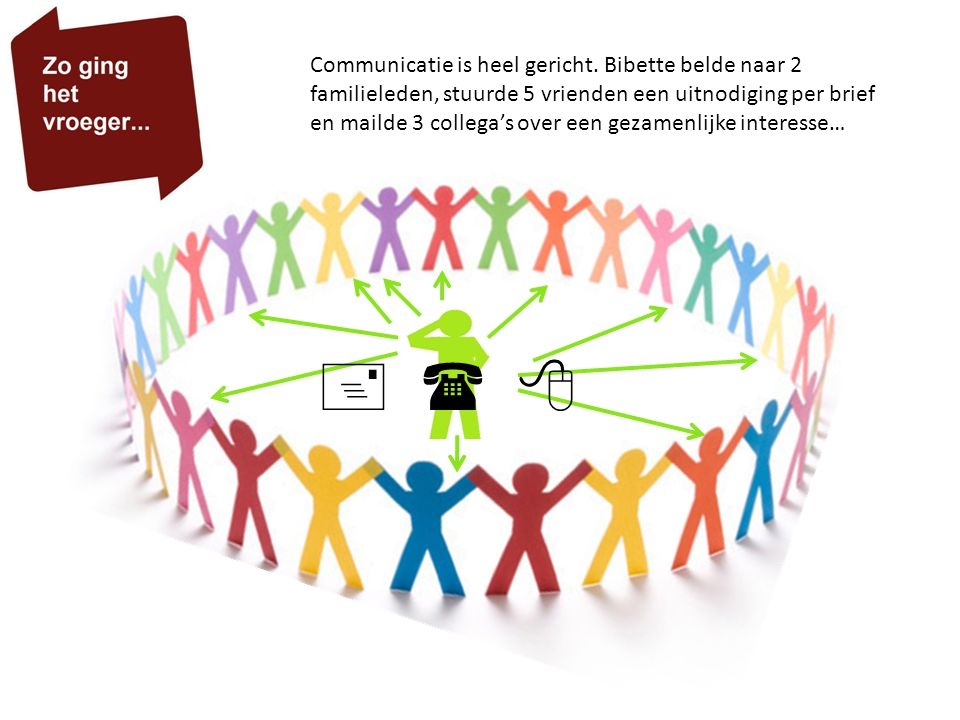 Communicatie is heel gericht