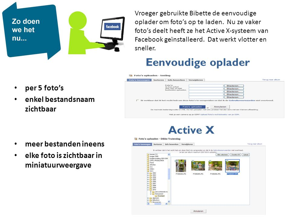 Eenvoudige oplader Active X per 5 foto's enkel bestandsnaam zichtbaar