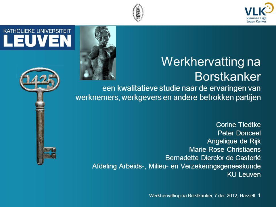Werkhervatting na Borstkanker, 7 dec 2012, Hasselt