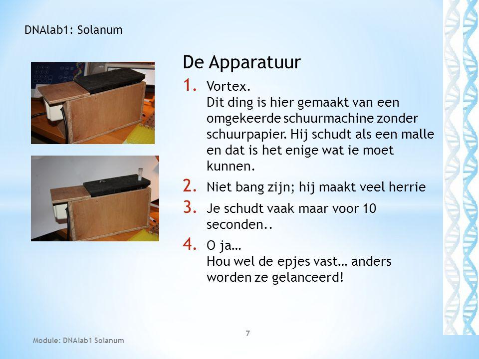 DNAlab1: Solanum De Apparatuur.