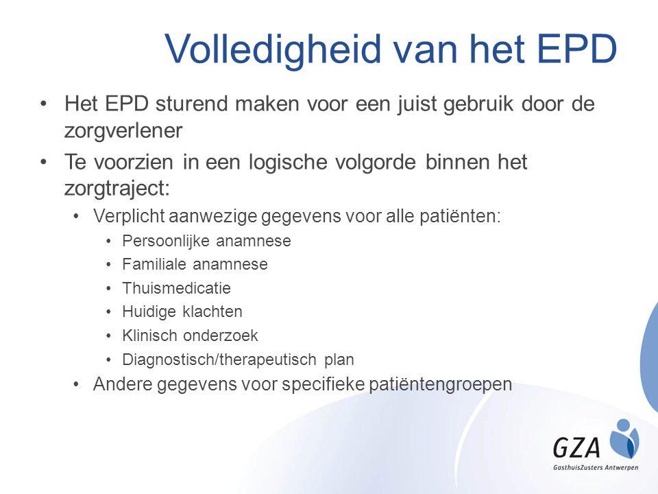 Volledigheid van het EPD