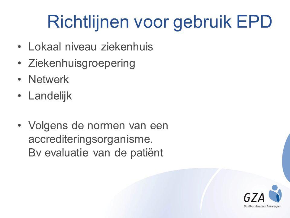 Richtlijnen voor gebruik EPD