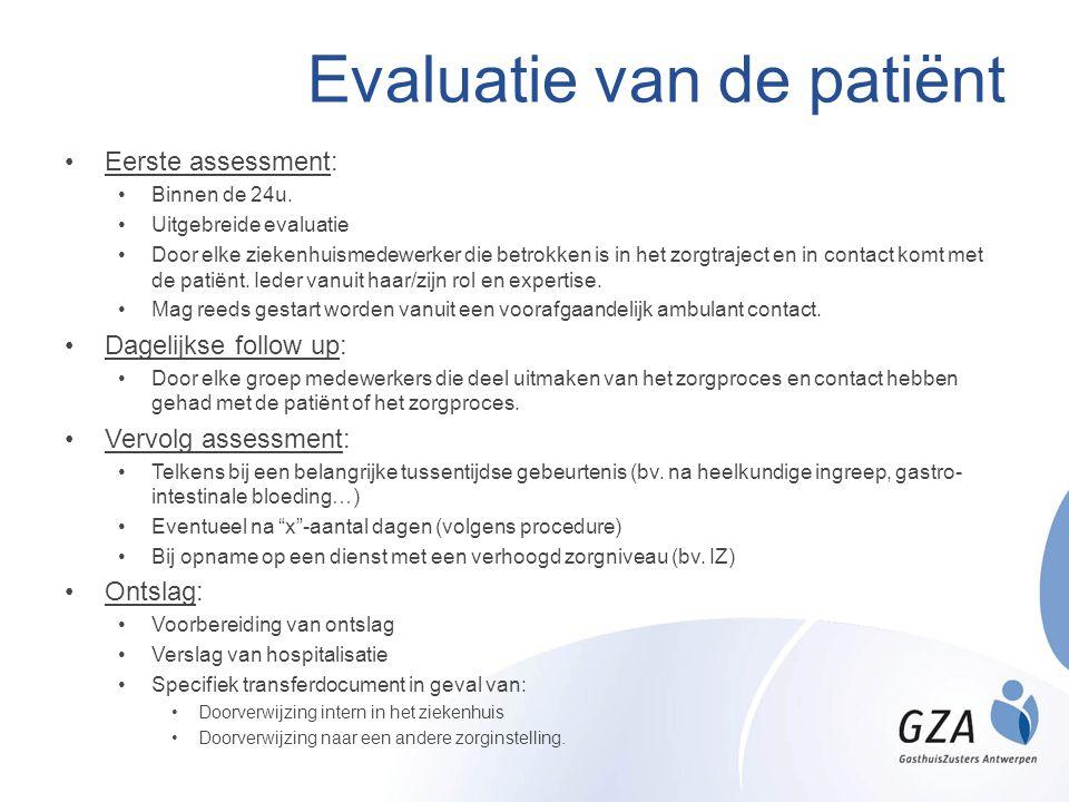 Evaluatie van de patiënt