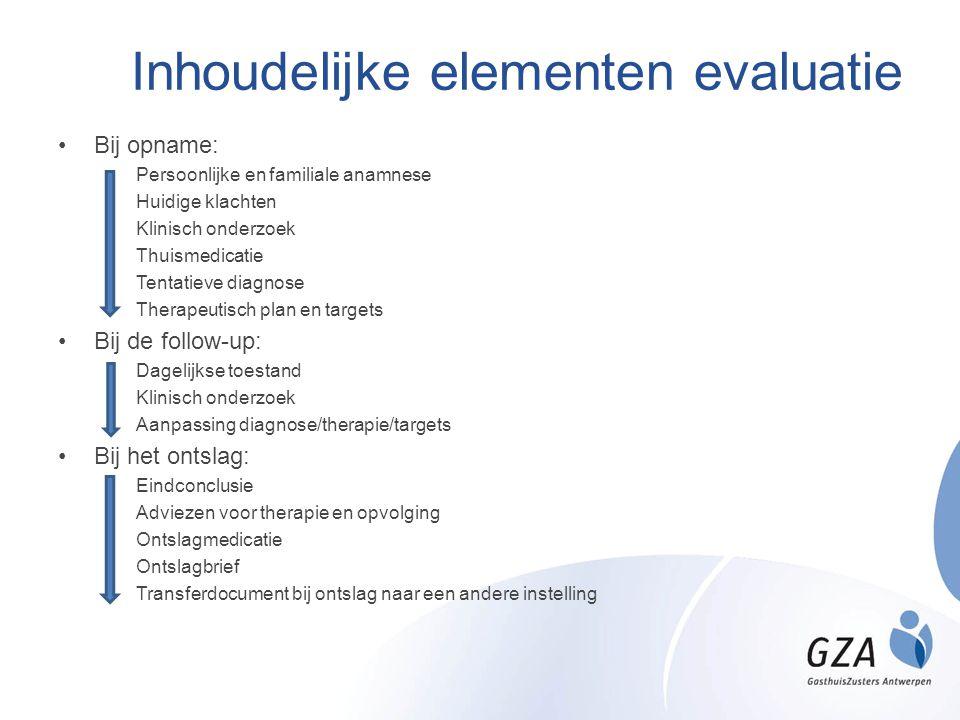 Inhoudelijke elementen evaluatie