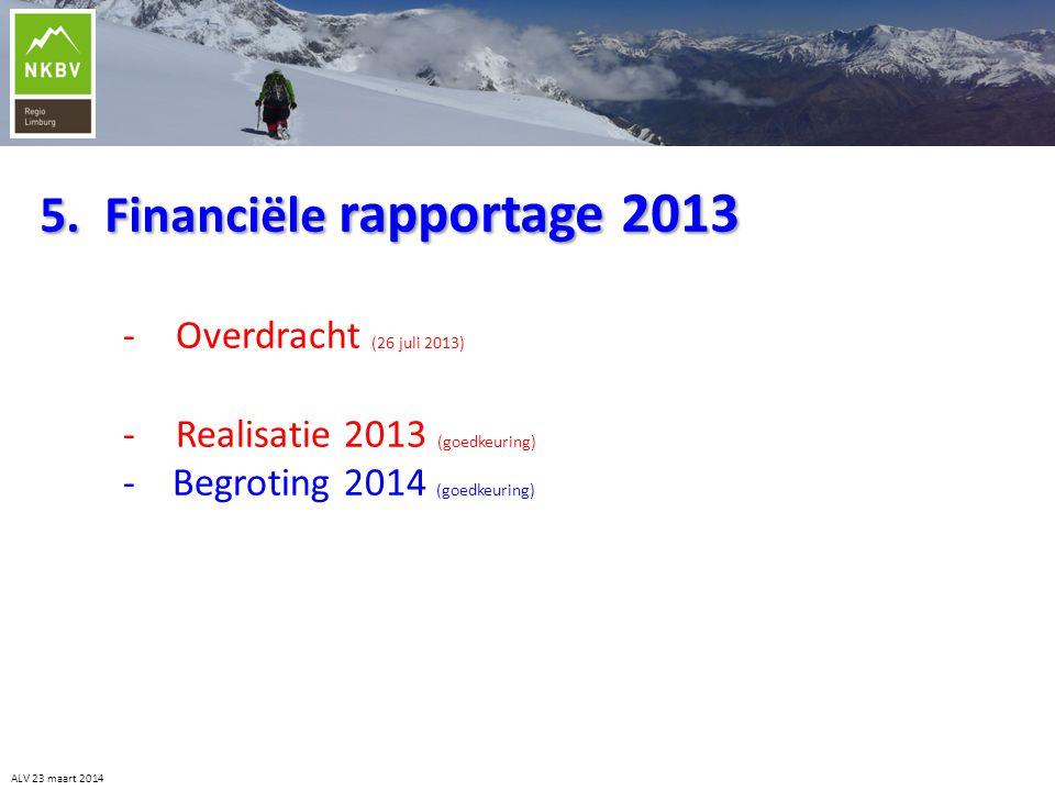 5. Financiële rapportage 2013