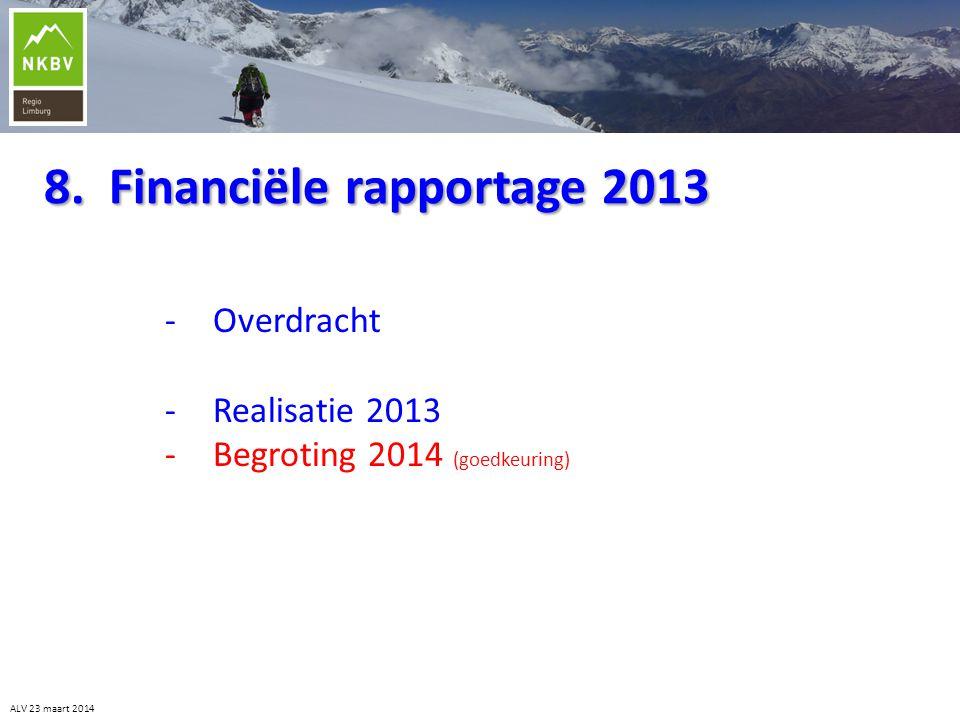 8. Financiële rapportage 2013