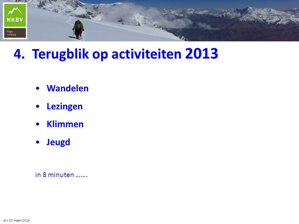 4. Terugblik op activiteiten 2013