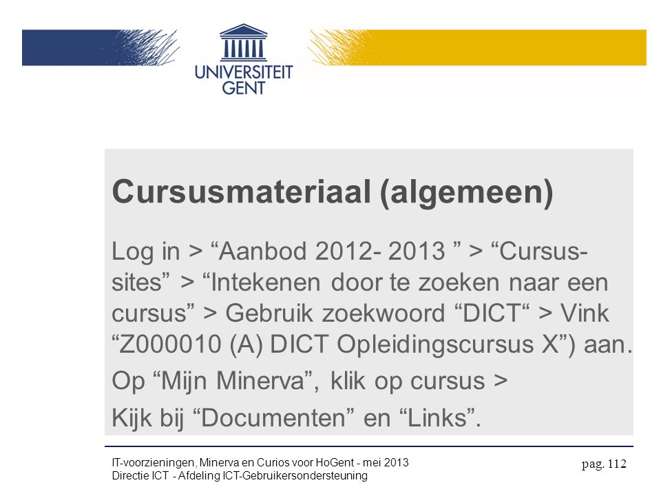 Cursusmateriaal (algemeen)