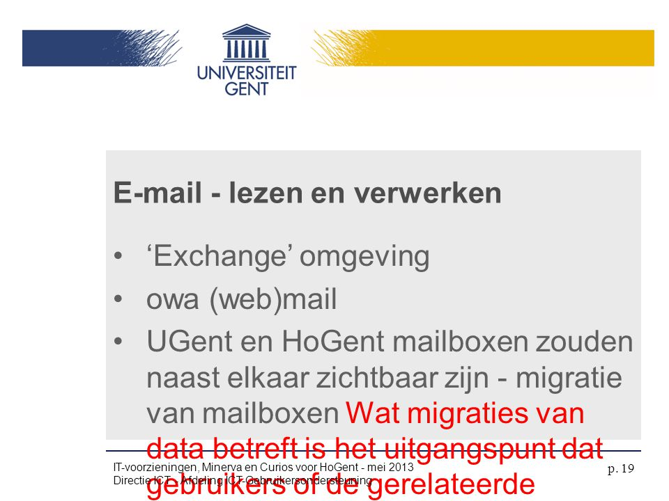 E-mail - lezen en verwerken