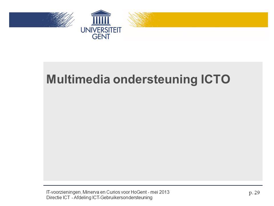 Multimedia ondersteuning ICTO