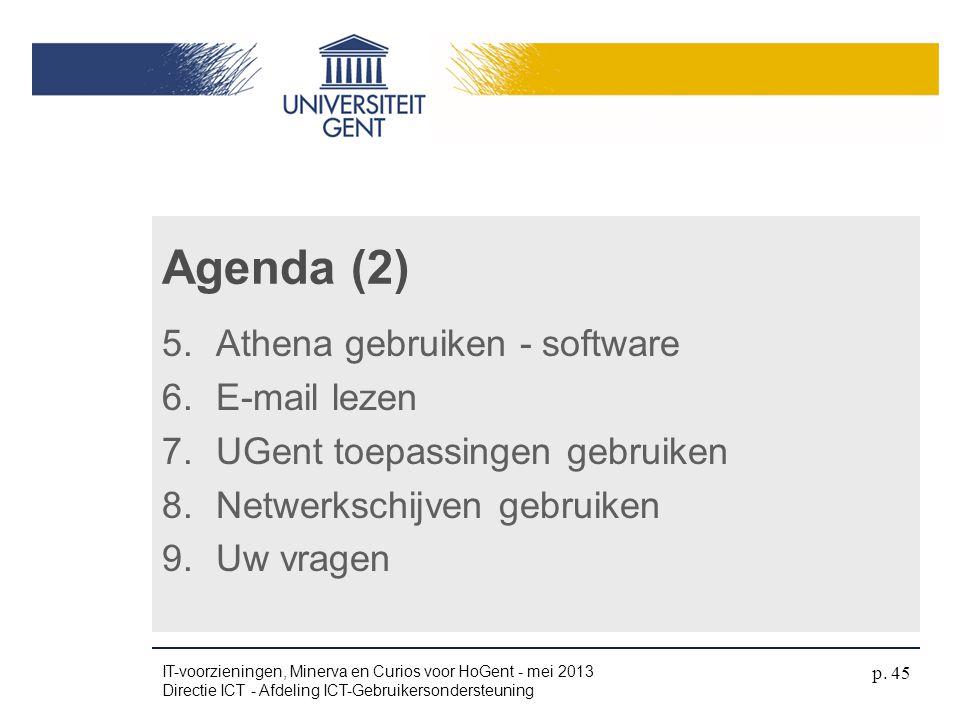 Agenda (2) Athena gebruiken - software E-mail lezen