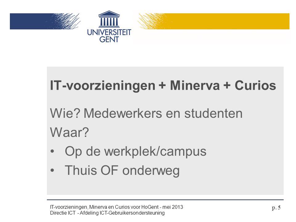 IT-voorzieningen + Minerva + Curios