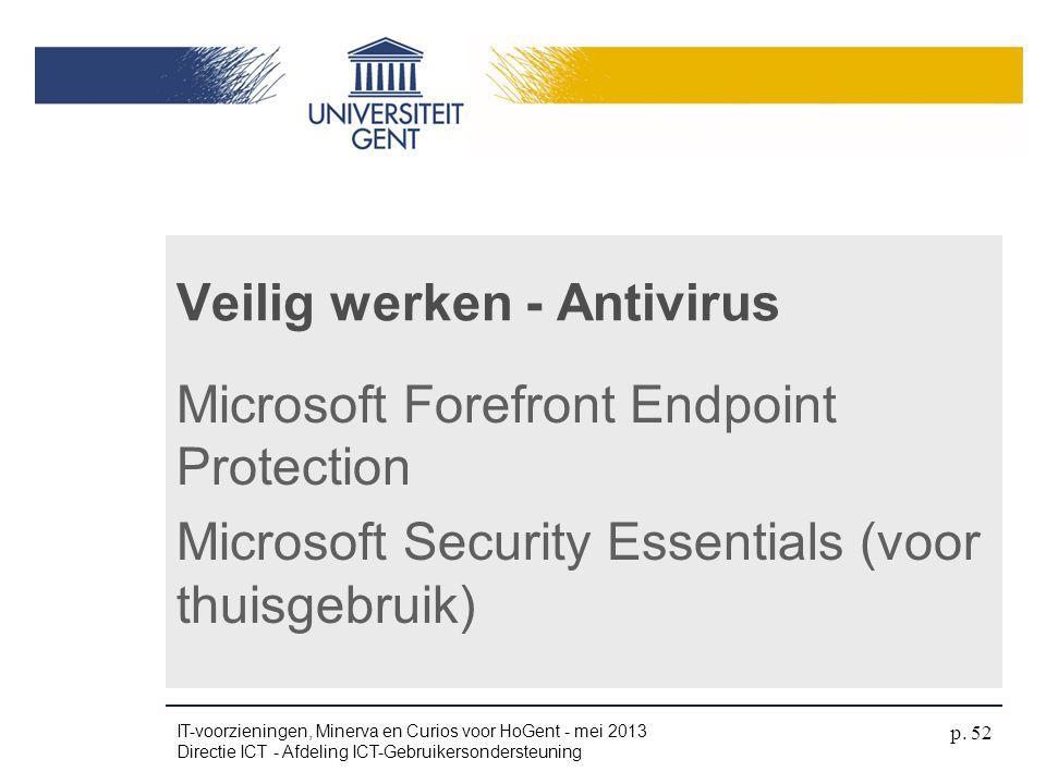 Veilig werken - Antivirus