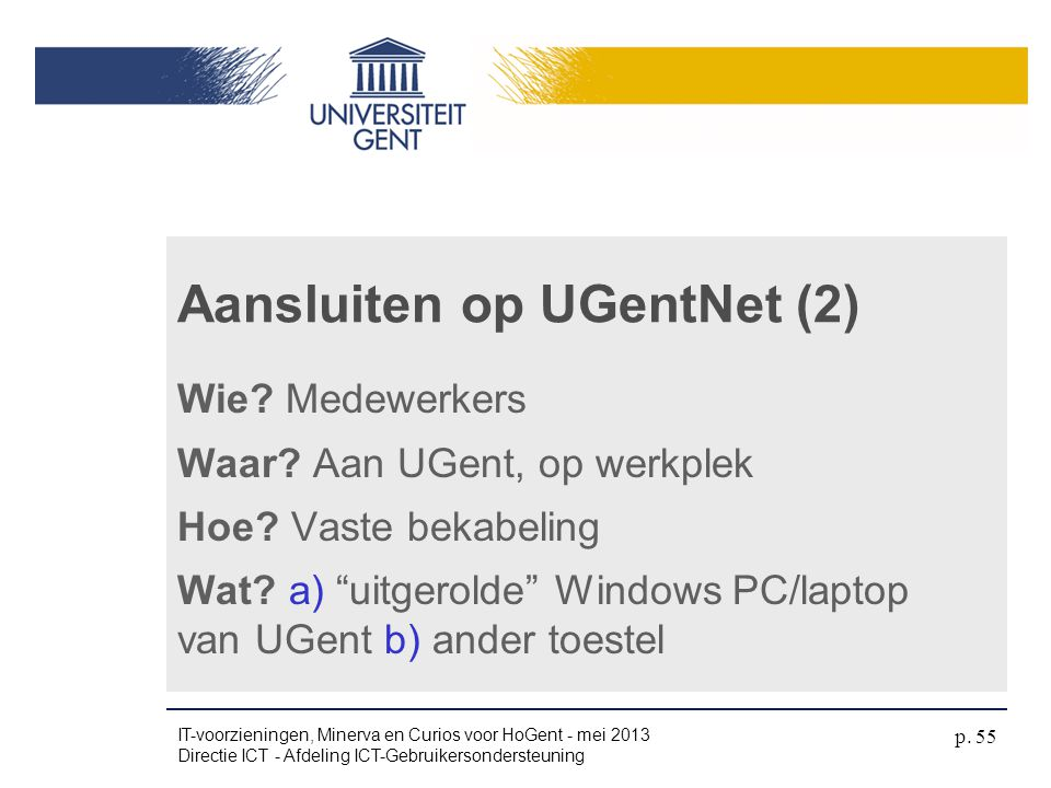 Aansluiten op UGentNet (2)