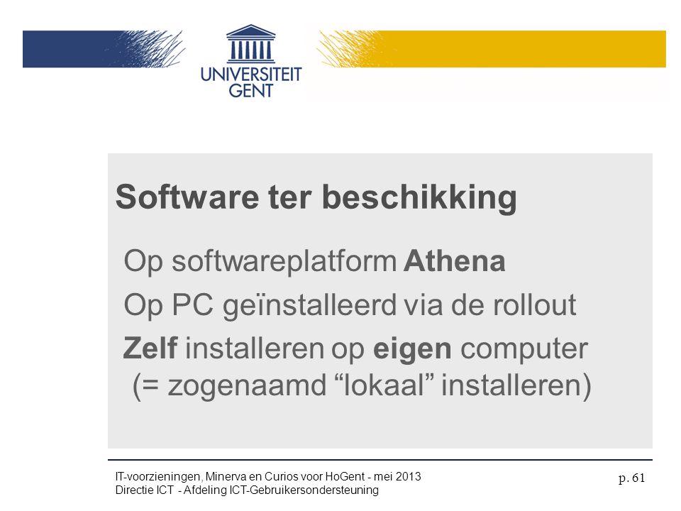 Software ter beschikking